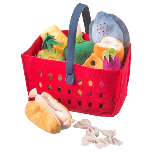 IKEA LÅTSAS 12-piece shopping basket set
