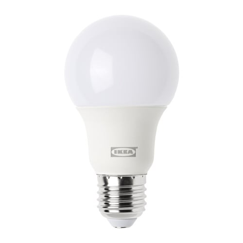 Ledare led bulb e27 600 lumen ikea for Lampe d exterieur a led