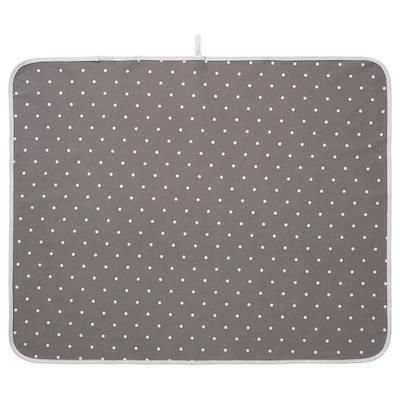 LEN Babycare mat, dotted/grey, 90x70 cm