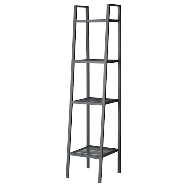 LERBERG Shelf unit, dark grey, 35x148 cm