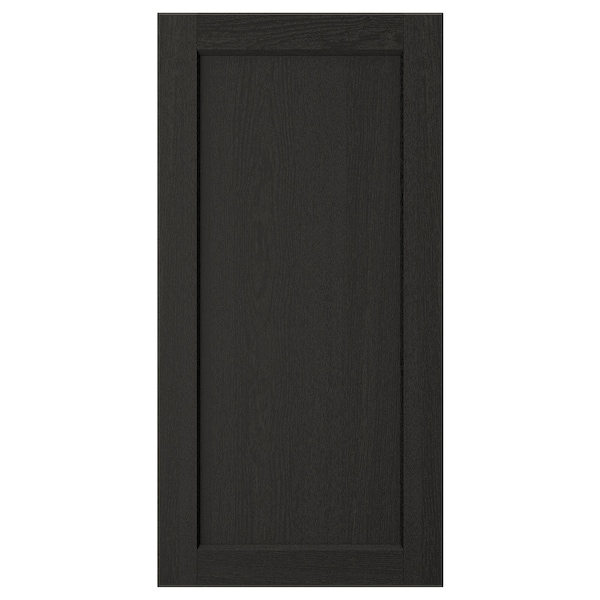 LERHYTTAN Door, black stained, 40x80 cm