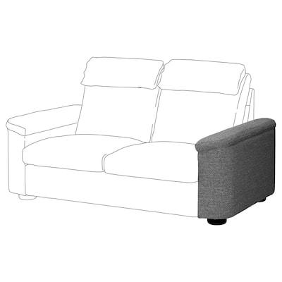 LIDHULT Armrest, Lejde grey/black