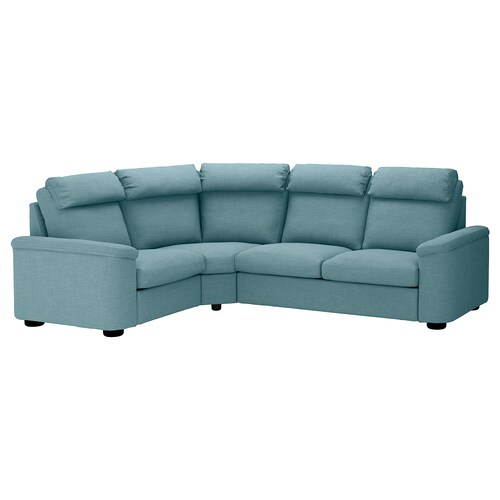 LIDHULT corner sofa, 4-seat Gassebol blue/grey 102 cm 76 cm 98 cm 275 cm 205 cm 7 cm 53 cm 45 cm