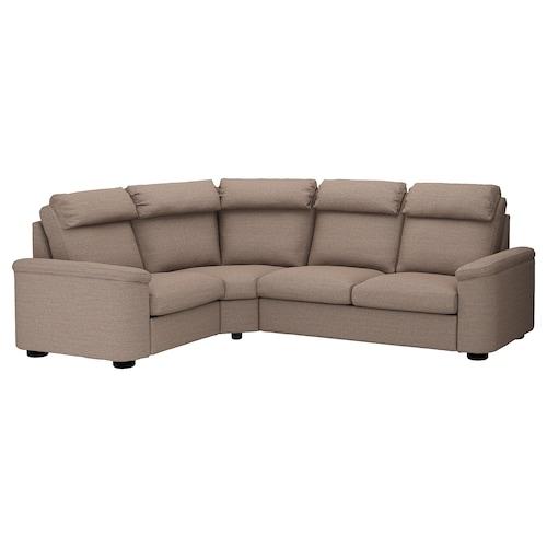 LIDHULT corner sofa, 4-seat Lejde beige/brown 102 cm 76 cm 98 cm 275 cm 205 cm 7 cm 53 cm 45 cm