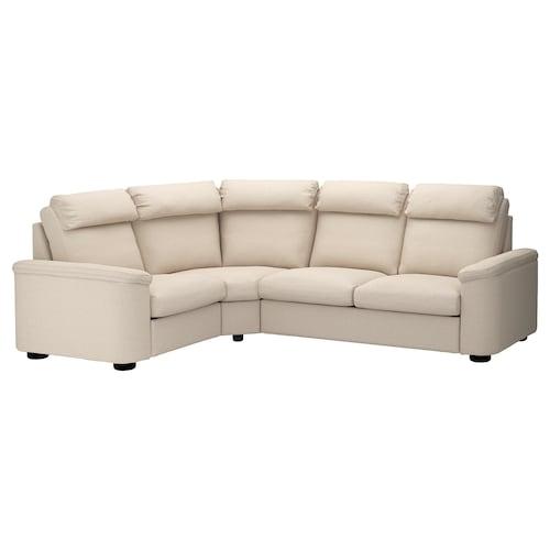 LIDHULT corner sofa, 4-seat Gassebol light beige 102 cm 76 cm 98 cm 275 cm 205 cm 7 cm 53 cm 45 cm