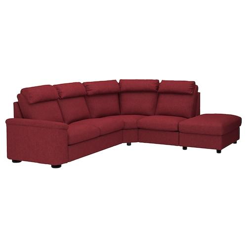 LIDHULT corner sofa, 5-seat with open end/Lejde red-brown 102 cm 76 cm 98 cm 275 cm 253 cm 7 cm 53 cm 45 cm