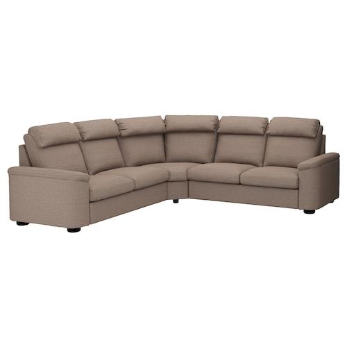 LIDHULT corner sofa, 5-seat Lejde beige/brown 102 cm 76 cm 98 cm 275 cm 275 cm 7 cm 53 cm 45 cm