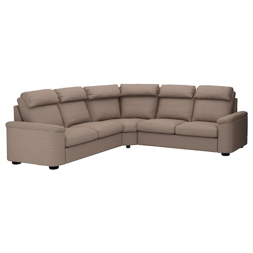 LIDHULT corner sofa-bed, 5-seat Lejde beige/brown 102 cm 76 cm 98 cm 294 cm 275 cm 7 cm 53 cm 45 cm 140 cm 200 cm