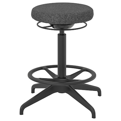LIDKULLEN Active sit/stand support, Gunnared dark grey