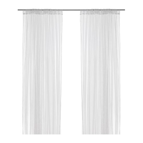LILL Net curtains, 1 pair   The net curtains let the daylight through but provide privacy so they are perfect to use in a layered window solution.