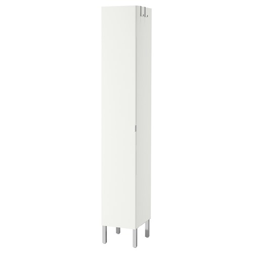 LILLÅNGEN high cabinet with 1 door white 30 cm 38 cm 194 cm