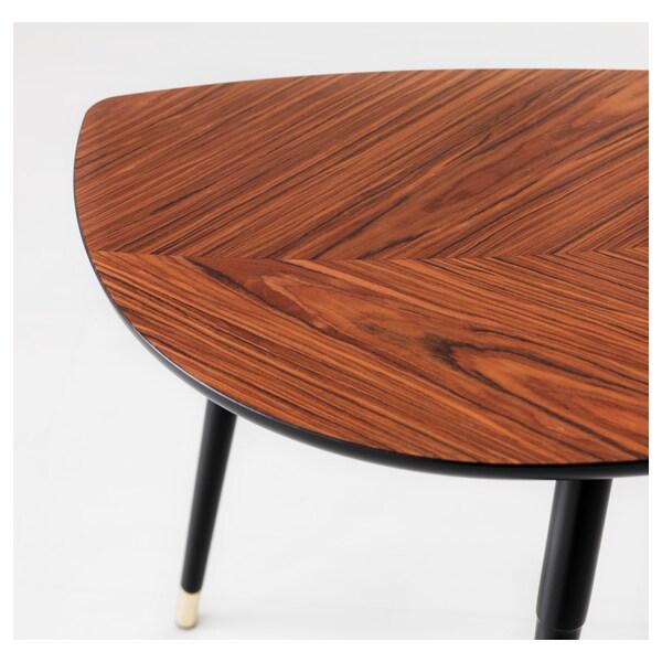 LÖVBACKEN Side table, medium brown, 77x39 cm