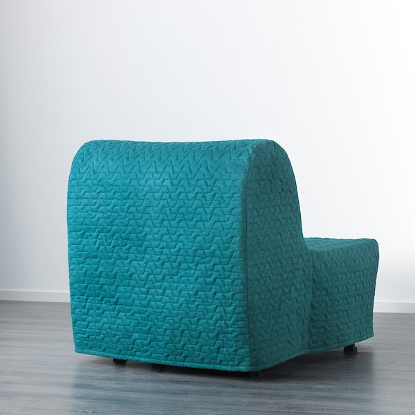 LYCKSELE MURBO Chair-bed, Vallarum turquoise