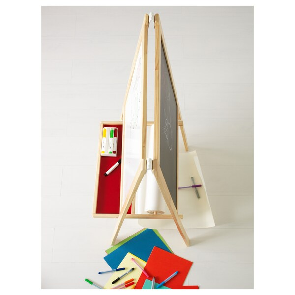 MÅLA Easel, softwood/white