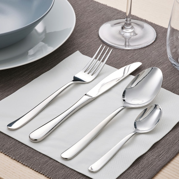 MARTORP 30-piece cutlery set, stainless steel