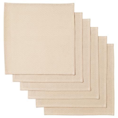 MATVANOR napkin beige 33 cm 33 cm 6 pieces