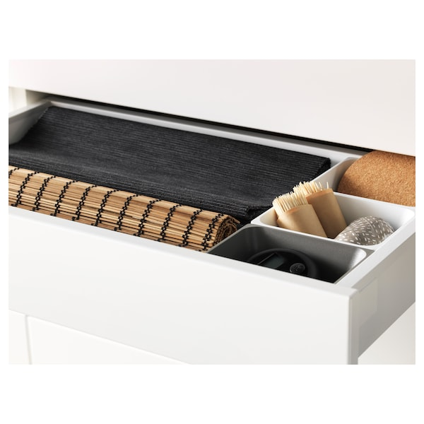 MAXIMERA Drawer, low, white, 60x37 cm
