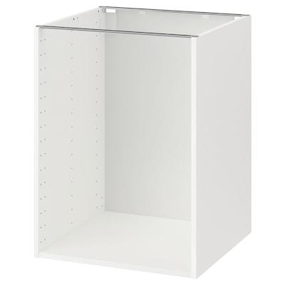 METOD Base cabinet frame, white, 60x60x80 cm