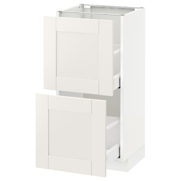 METOD base cabinet with 2 drawers white Maximera/Sävedal white 40.0 cm 37 cm 38.8 cm 80.0 cm
