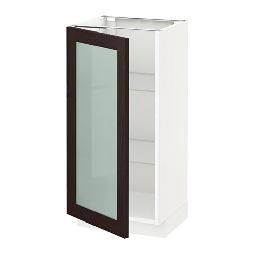 METOD Base Cabinet With Glass Door White IKEA