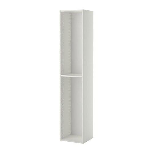 METOD High cabinet frame   1 reinforced shelf included; increases stability.  Sturdy frame construction, 18 mm thick.