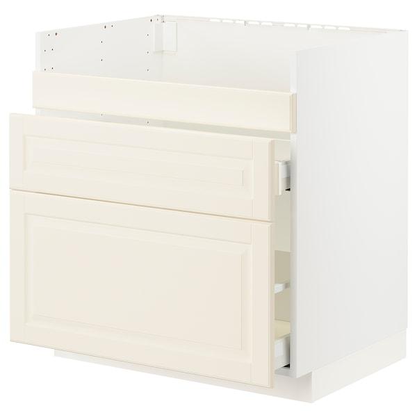 METOD / MAXIMERA Base cb f HAVSEN snk/3 frnts/2 drws, white/Bodbyn off-white, 80x60x80 cm
