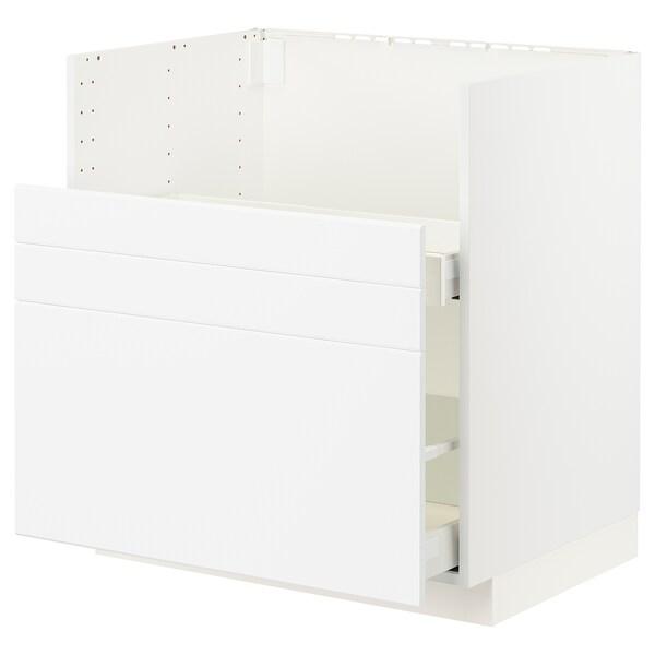 METOD / MAXIMERA Bc f BREDSJÖN sink/2 fronts/2 drws, white/Kungsbacka matt white, 80x60 cm