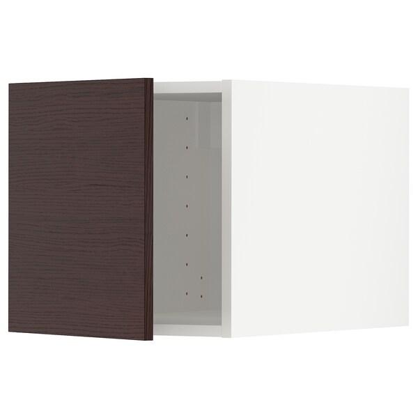 METOD Top cabinet, white Askersund/dark brown ash effect, 40x60x40 cm