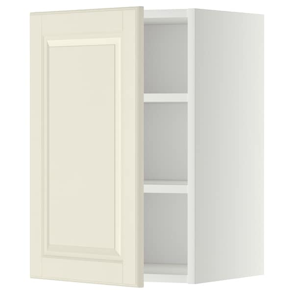 METOD Wall cabinet with shelves, white/Bodbyn off-white, 40x37x60 cm