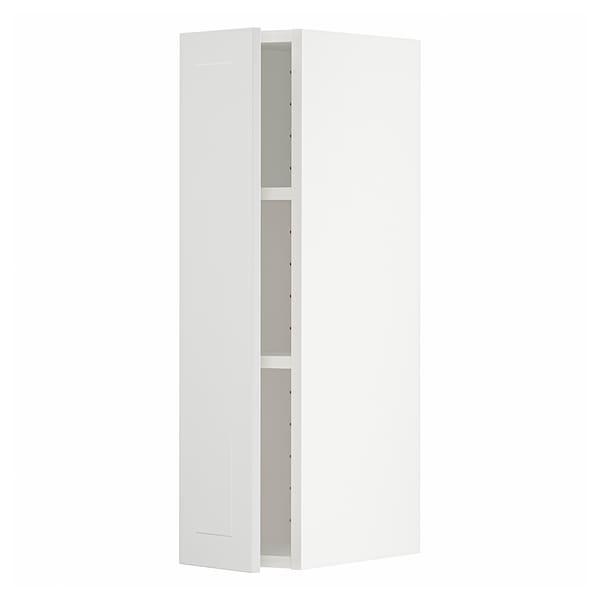 METOD Wall cabinet with shelves, white/Stensund white, 20x37x80 cm