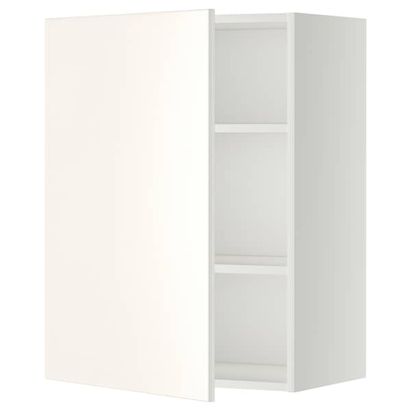 METOD Wall cabinet with shelves, white/Veddinge white, 60x37x80 cm
