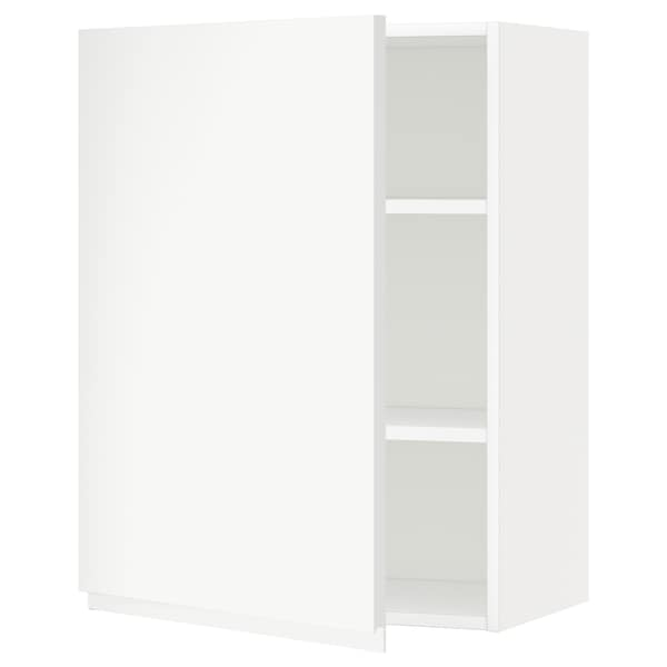METOD Wall cabinet with shelves, white/Voxtorp matt white, 60x37x80 cm