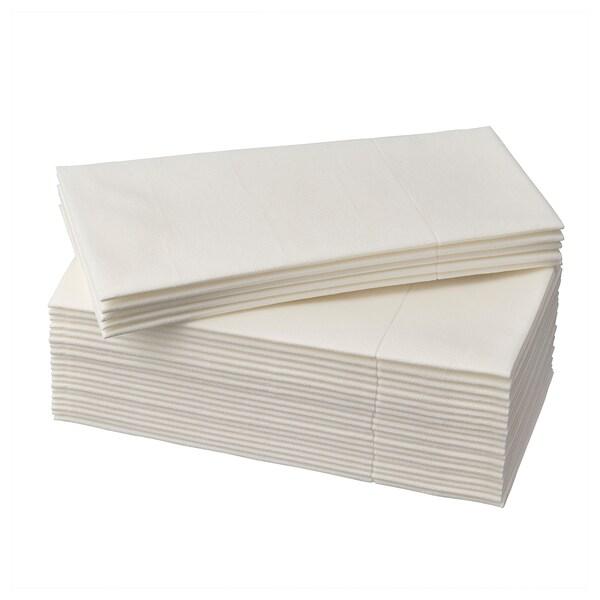 MOTTAGA Paper napkin, white, 38x38 cm