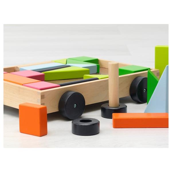 MULA 24 building blocks with wagon