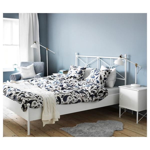 MUSKEN Bedside table, white, 45x58 cm