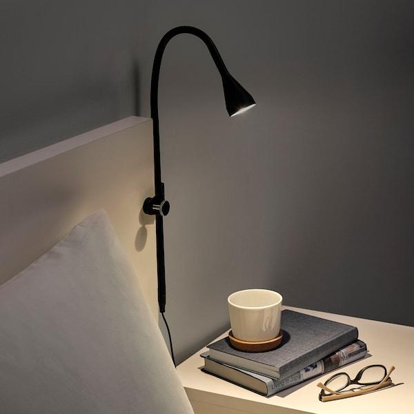 NÄVLINGE LED wall/clamp spotlight, black