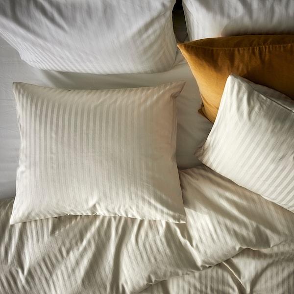NATTJASMIN Duvet cover and pillowcase, light beige, 150x200/50x80 cm
