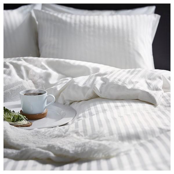 NATTJASMIN Duvet cover and pillowcase, white, 150x200/50x80 cm