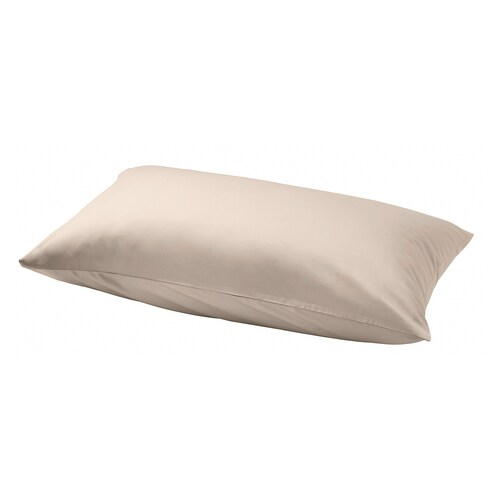 NATTJASMIN pillowcase light beige 310 /inch² 1 pieces 50 cm 80 cm