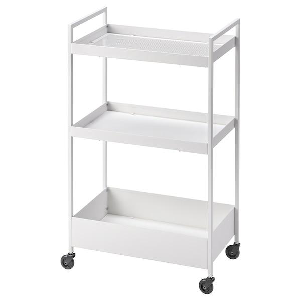 NISSAFORS Trolley, white, 50.5x30x83 cm