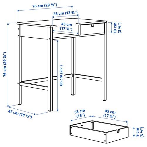 NORDKISA Dressing table, bamboo, 76x47 cm