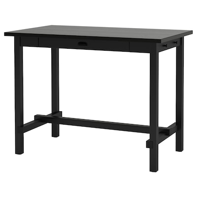NORDVIKEN Bar table, black, 140x80x105 cm