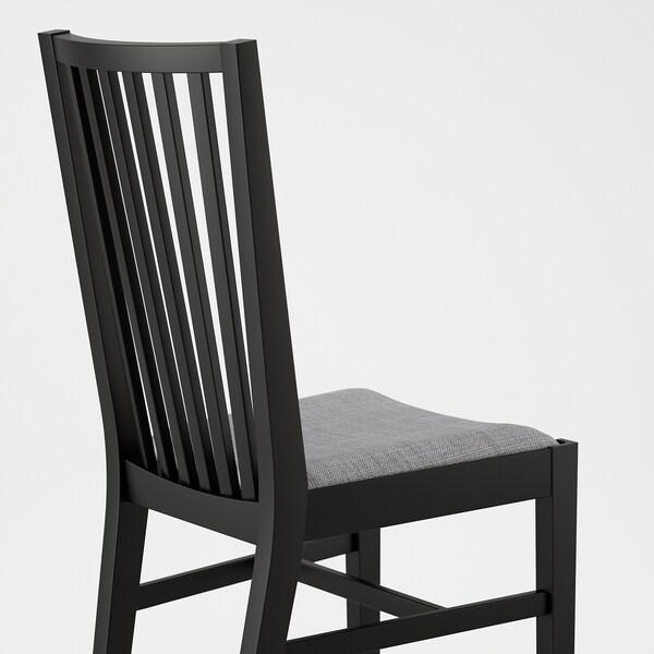 NORRNÄS Chair, black/Isunda grey