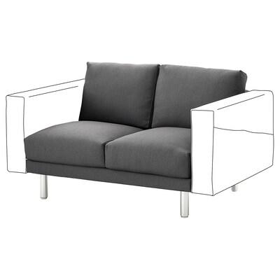 NORSBORG 2-seat section, Finnsta dark grey/metal