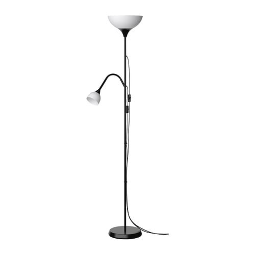 NOT Floor uplighter/reading lamp   These lamps can be both general lights and reading lights and can be switched on and off separately.