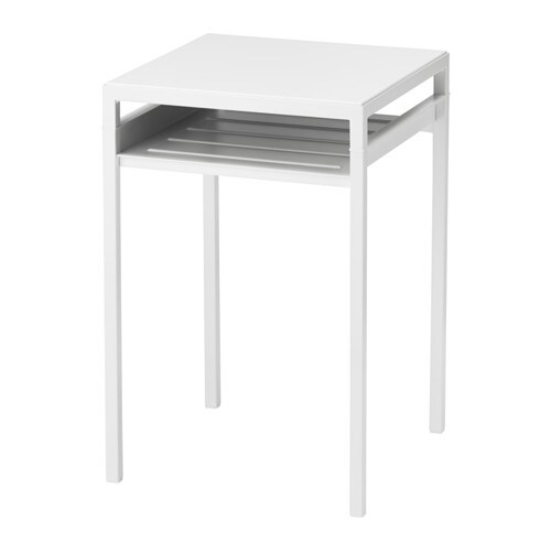 Beistelltisch ikea  NYBODA Side table w reversible table top - white/grey - IKEA