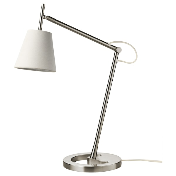 NYFORS work lamp nickel-plated white 5.7 W 400 lm 88 cm 21 cm 14 cm 1.8 m 5.7 W