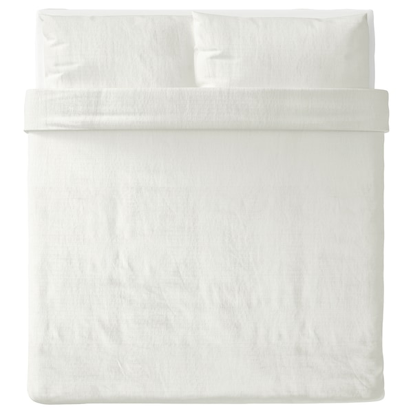 OFELIA VASS Duvet cover and 2 pillowcases, white, 240x220/50x80 cm