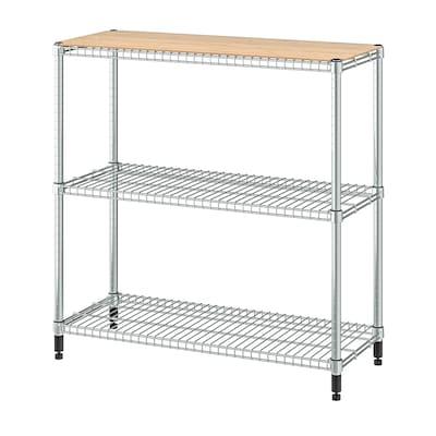 OMAR 1 shelf section, bamboo, 92x36x94 cm