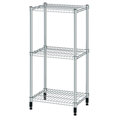 OMAR Shelving unit, galvanised, 46x36x94 cm